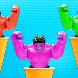 Sonic vs Hulk - Pop it Challenge - Stop Motion