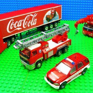 Super Coca Cola Fire Engine Trucks Pickup Race Car Racing