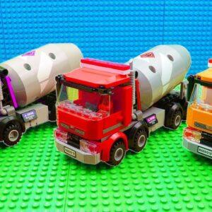 Super Color Trucks Garbage Truck Steamroller Excavator