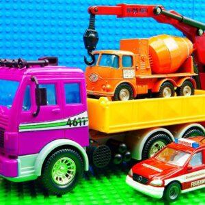 Super DUMP Truck Cement Mixer Trucks Big Fire Engine