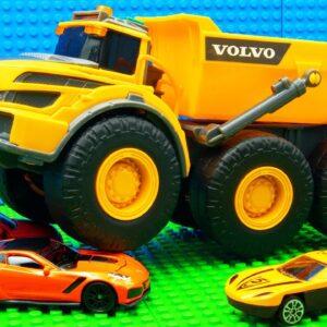 Super Dumper Trucks Forklift Fallen Sand