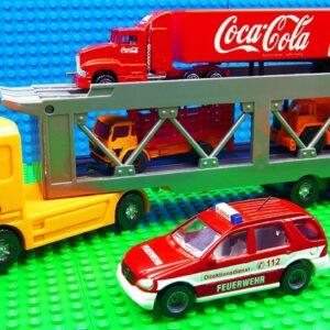Super Transporter Coca Cola Fire Truck Reach Truck