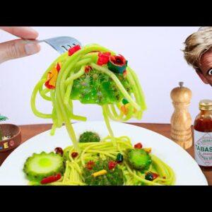 Eating CACTUS SPAGHETTI with Hottest Chili | ASMR Food Challange Animation