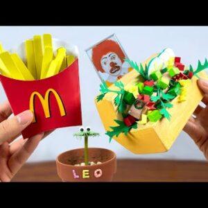 Eating McDonald's Items - PAPER Fast Food For Dinner |ASMR Mukbang Animation