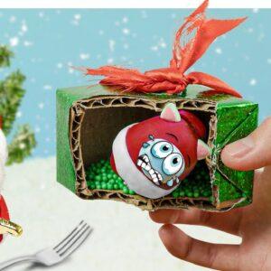 MERRY CHRISTMAS 2020!!! Kluna Tik eat his GIFT and a Mini SANTA CLAUS | ASMR eating sounds no talk