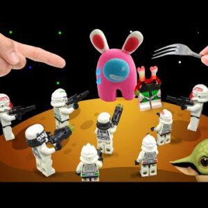 Among Us vs Star War, Eating Pink Imposter in Rea Life - Asmr Mukbang Animation