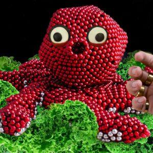 Linatik MUKBANG 🐙 Giant Octopus Seafood From Magnet Balls  ASMR Magnet Animation