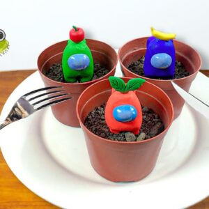 Grow and Eating AMONG US PLANTS for Break Fast | ASMR Mukbang No Talking Animation