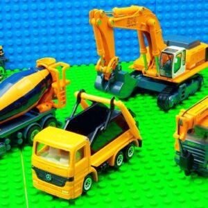 Building Truck Car Transporter Big Crane Racing