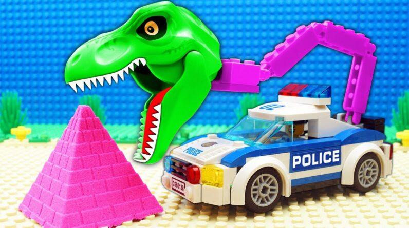 Dino Police Dump Truck