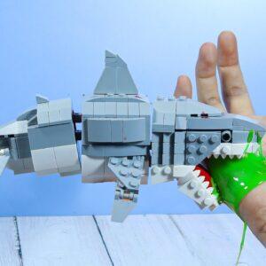 EATING LEGO ZOMBIE SHARK FOR DINNER - ASMR MUKBANG  FOOD ANIMATION