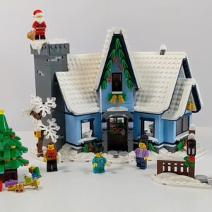 first reviews of lego winter village collection 10293 santas visit arrive online