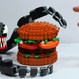 Making LEGO Burger For Venom IRL 🍔 Funny Stop Motion Cooking & ASMR 4k