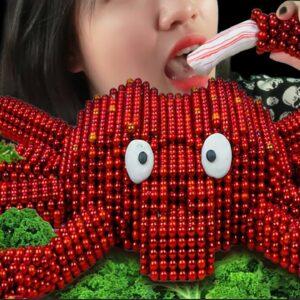 MUKBANG🦀 Giant King Crab : Cooking & Eating Sound From Magnet Cooking | ASMR Animation