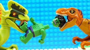 JURASSIC WORLD EVOLUTION Blue T-REX Dinosaurs Giganotosaurusvs Hulk