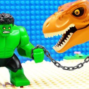 JURASSIC WORLD EVOLUTION Blue T-REX Dinosaurs vs Hulk