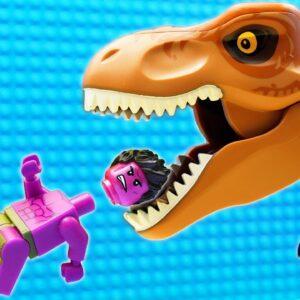 JURASSIC WORLD EVOLUTION Red T-REX Dinosaurs vs Green Hulk Team