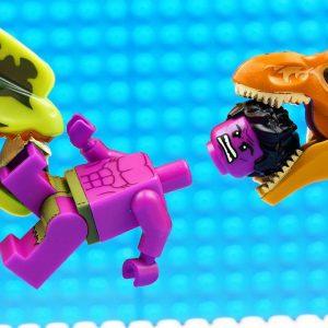 JURASSIC WORLD EVOLUTION Red T-REX Dinosaurs vs Mosasaurus