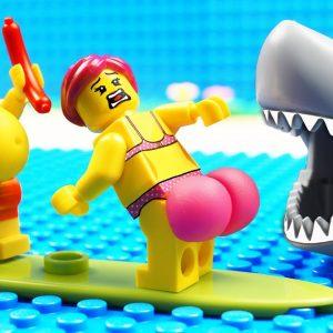 JURASSIC WORLD EVOLUTION Red T-REX Dinosaurs White Shark vs Food Boat