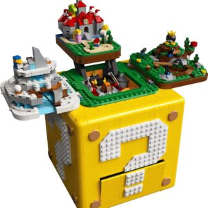 lego 71395 super mario 64 question mark block revealed featuring micro worlds from mario 64