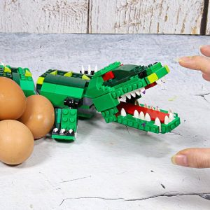 Making Lego Fried CROCODILE In Real Life - Stop Motion Cooking ASMR | Funny Video