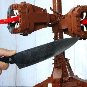 LEGO SIREN HEAD - DESTROY AND EAT FOR DINNER | ASMR MUKBANG FOOD
