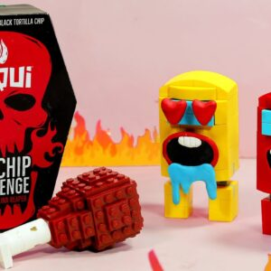 LEGO Spicy Food CHALLENGE ASMR AMONG US ANIMATION MUKBANG