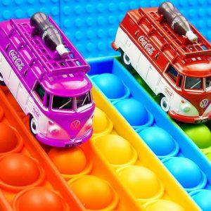 Mini Coca Cola Food Bus Pop It Racing