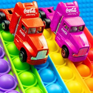 Mini Coca Cola Truck Pop it Racing
