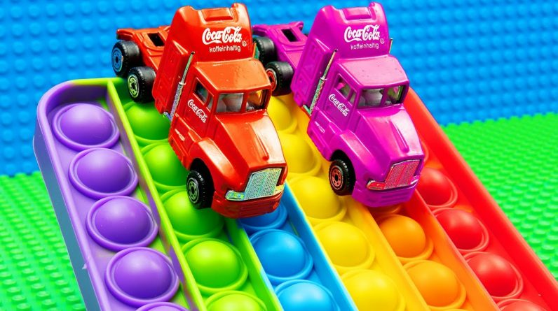 Mini Food Trucks Pop it Racing