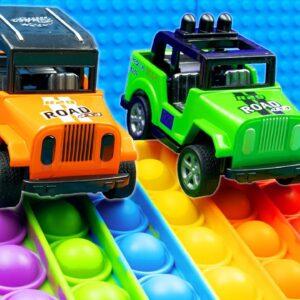 Mini Pickup Pop it Jeep Racing