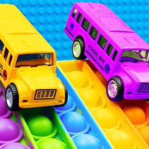 MINI School Bus Pop it Racing