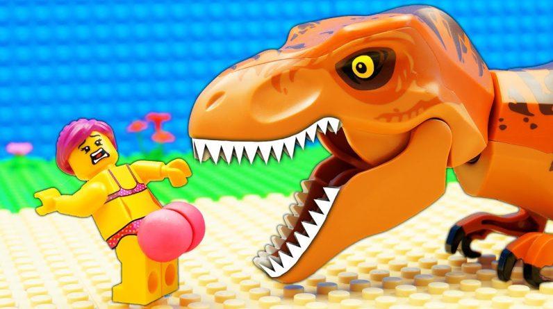 JURASSIC WORLD EVOLUTION Scorpius Rex Green Velociraptor Dinosaurs vs Food Truck
