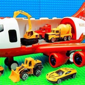Plane Transport Building Crane Tractor Bulldozer Dump Trucks