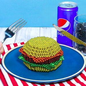 Eating Perfect Burger From Magnetic Balls (Satisfying) - DIY | Cooking ASMR Animation