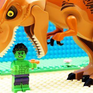 JURASSIC WORLD EVOLUTION Scorpius Rex Green Velociraptor Green T-REX Dinosaurs vs Godzilla HULK