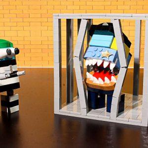 Lego Cheese Potato Tacos - Pop IT vs CREWMATES | Animation Stop Motion Cooking ASMR