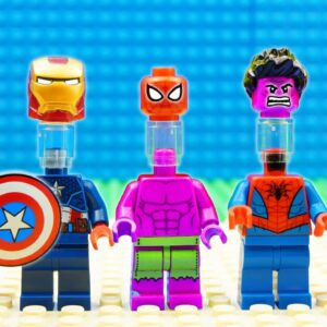 Super Spider-man Captain America Spiderman-Batman-Hulk Team