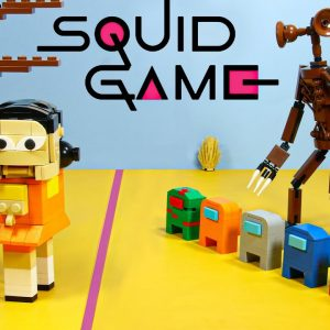 Squid Game In Lego: Green Light, Red Light Challenge - Stop Motion Cooking / Funny Videos
