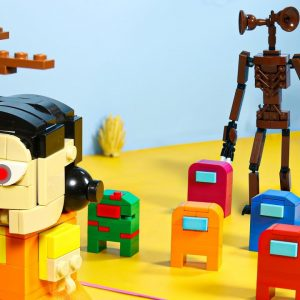 SQUID GAME vs  LEGO Among Us, Siren Head and Minecraft  Stop Motion Animation