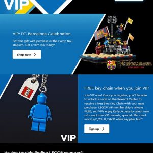 double vip points on all lego sets only this week