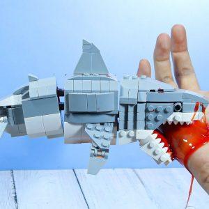 Eating Lego Zombie Shark For Break Fast | Mukbang Asmr Animation
