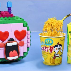 Yellow Food Mukbang Challenge In Real Life - LEGO CoComelon Animation Satisfying Video