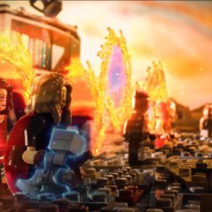 marvel avengers endgame scene recreated by lego and disney