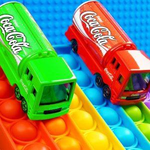 Mini Coca Cola SUV Food BUS Pop It Racing