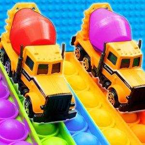 Mini Concrete Mixer Trucks POP IT Racing
