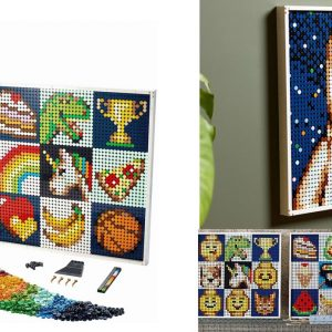 new lego art 21226 create together also includes a classic space astronaut portrait