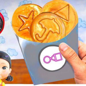 SQUID GAME CAKE CHALLENGE IN REAL LIFE | LINATIK ASMR MUKBANG ANIMATION