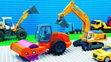Super Building Trucks Steamroller Mobile Crane