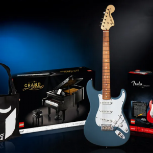 win a real fender stratocaster in new lego ideas contest